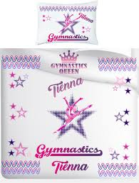 stunning personalised gym single duvet cover and pillow case set 2