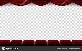 red theater chairs. Cinema Chairs Vector. Film, Movie, Theater, Auditorium With Red Seat, Row Of Chairs. Blank Screen. Isolated Background Illustration \u2014 Vector By Pikepicture Theater