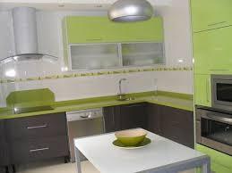 Charming Cocina Con Muebles Verdes