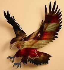 5600041532 i patriotic bald eagle i metal wall art