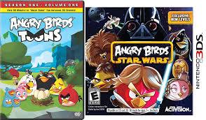 Amazon.com: Angry Birds Star Wars: Nintendo 3DS & Toons Season One Animated  DVD 26 Episodes Game + Cartoon Set: Movies & TV