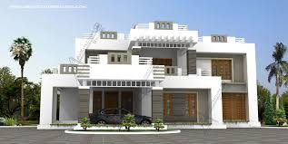 Small Picture Contemporary Modern Style Kerala House Design at 3600 sqft