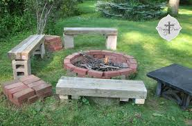 diy backyard fire pit from reclaimed materials via prodigal pieces