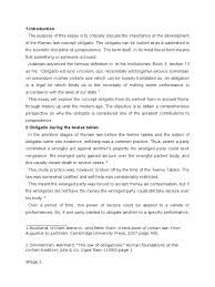 r law of things essay law of obligations r law