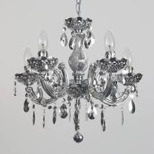 marie therese chandelier  light dual mount  silver from litecraft