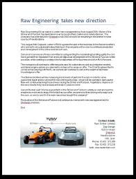 new car press releaseKit car news  Raw Striker Ltd kit cars
