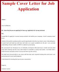 Cover Letter Sample For A Job Sample Covering Letter For Job Application The Letter Sample Bank 1