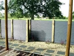corrugated metal fence cost club regarding designs 8 privacy diy plans
