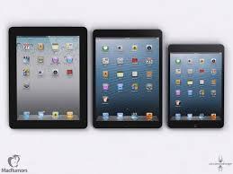 ipad size comparison size comparison of ipad 4 ipad mini iphone 5 and upcoming ipad 5