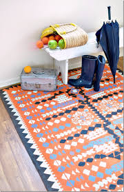 Easy DIY Rugs and Handmade Rug Making Project Ideas - Painted Dropcloth Rug  - Simple Home