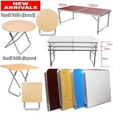 portable foldable aluminium table 120cm x 60cm lightweight picnic table study