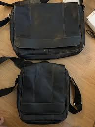 genuine wilsons leather bag set messenger bag and tablet bag