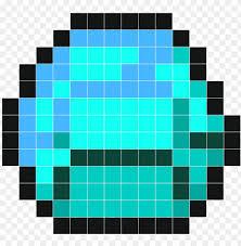 minecraft diamond pixel art png image