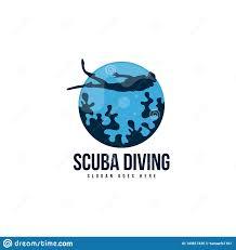 Scuba Diving Logo Design Scuba Diving Logo Template Vector Diver Logo Concept Stock