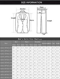 36 Suit Size Chart Faiokaver Mens 3 Piece Suits For Wedding Slim Fit Gold