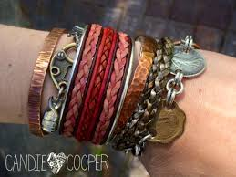 diy leather jewelry making how to make a cuff bracelet with inlaid leather on can