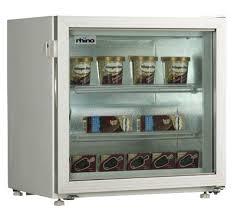 rhino sd 55a counter top display freezer