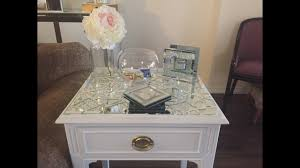 d i y restoration mosaic mirrored side table