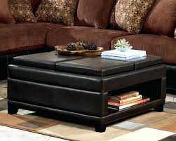 black coffee table ottoman large size of tables ottomans leather round tray