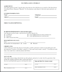 Personal Loan Contract Template Agreement Form New Easy