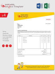 Fee Receipt Format Education Invoice Templates Free Word Excel ...