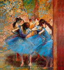 edgar degas rs in blue oil painting reion