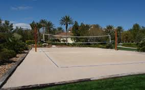 Outdoor Volleyball Court Landscape  Volleyball Courts  Pinterest Backyard Beach Volleyball Court