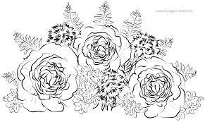 Coloring Side Adult Roses Bouquet Gratis Kleurplaten Foar Download