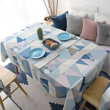 Us 847 46 Offgeometric Print Kitchen Table Linens Rectangular Tablecloths Nappe Oilcloth Table Cloth Waterproof Cotton Mat Restaurant Cloth In