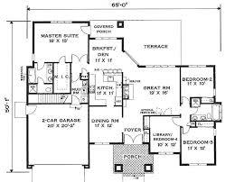 floor plan elegant one story home