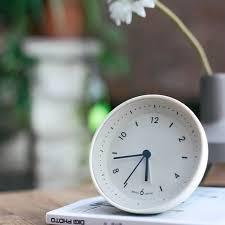 Stylish Jelly Gravity Control Bedside Alarm Clock Mute Clock White