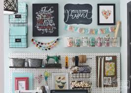 wall storage office. a beautiful colorful craft room office wall with pegboard for storage baskets i
