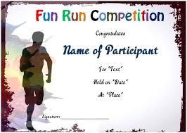 Fun Run Certificate Template Fun Run Certificate Template