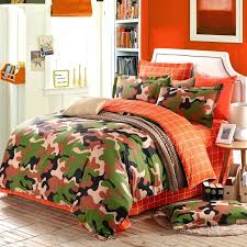 modern king size bedding sets burnt orange forest green brown and beige modern camouflage print abstract
