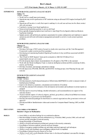 Intelligence Analyst Resume Examples Senior Intelligence Analyst Resume Samples Velvet Jobs 23