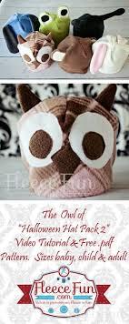 free fleece owl hat pattern
