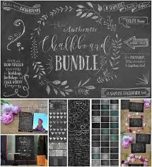 big chalkboard bundle with elements  free download