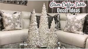Place a small house (or another accessory) in the back and add one more accessory in the front. Winter Coffee Table Decor Ideas Glam Living Room Home Decor Youtube