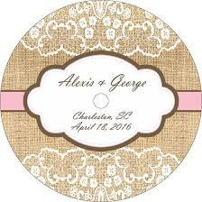 Wedding Cd Labels Lace On Burlap Wedding Cd Labels Labelsrus