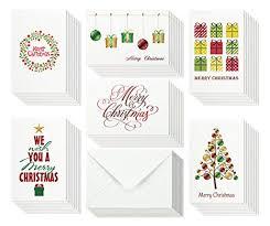 Amazon Com 48 Christmas Cards Bulk Assortment Set 6 Unique Merry