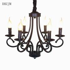 best of european style 6 arm large chandelier lighting led lampshade wrought for flameless candle chandelier