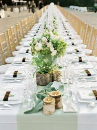 chic dining table long wedding reception table settings round