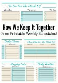 plan daily schedule how we keep it together and free weekly planner templates