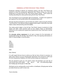 Sample Dismissal Letter Dismissal Letter For 90 Day Trial Period In Word And Pdf Formats