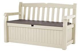 porch storage bench. Contemporary Bench Keter Eden 70 Gal All Weather Outdoor Patio Storage Bench Deck Box   BeigeBrown For Porch B