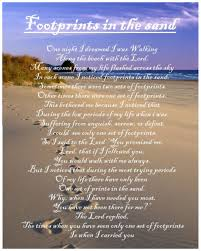 footprints in the sand poem birthday gift present