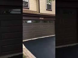 brown garage doors16x7 CHI 4283 Brown garage door with insulated sunburst glass