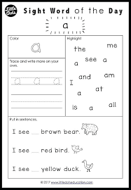 Pre Primer Dolch First Grade Sight Word Sentences Dolch Pre Primer Sight Words