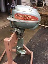 complete outboard engines in brand johnson johnson sea horse outboard motor jw vintage boat fishing 1950s 1960s