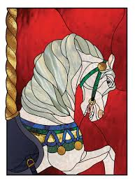 carousel horse stained glass pattern 4 00 shadow head shadow head